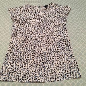 Ann Taylor cheetah print top